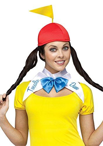 Fun World Costumes Women's Tweedle Dee Dum Adult Costume, Yellow/Red, Small/Medium