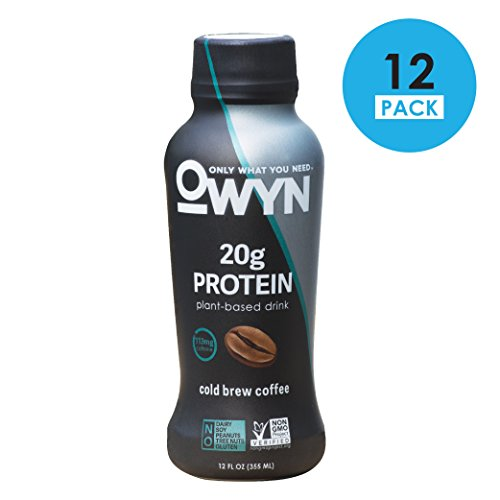 OWYN 100-Percent Vegan Foundry-Based Protein Shake, Cold Brew Coffee, Ready To Drink, Dairy-Free, Gluten-Free, Soy-Free, Allergy Friendly, Vegetarian, 12 fl. oz. Sauce a contain, 12 Pack