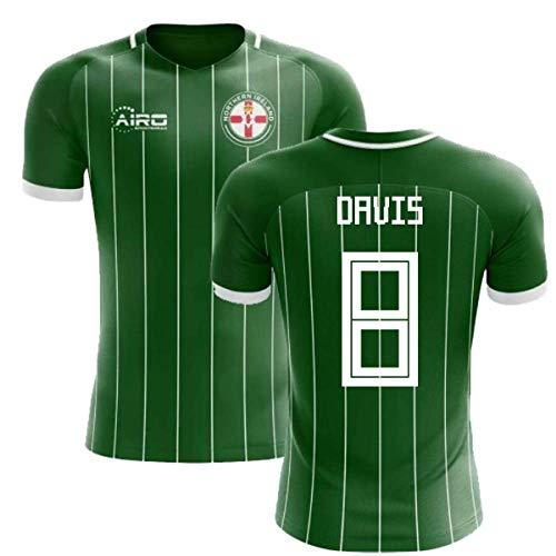 Airosportswear 2018-2019 Northern Ireland Home Concept Football Soccer T-Shirt Jersey (Steven Davis 8)