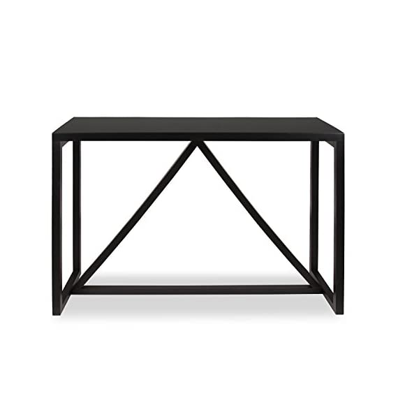 Kate and Laurel Kaya Wood Console Table, Black - Decorative modern console table brings a stylish statement to your home entryway or living room Bring glamour and sophistication into your home with this modern minimalist design console table Console table is high quality and measures 42 inches wide by 14 inch deep by 30 inches high - living-room-furniture, living-room, console-tables - 41i5 d56p L. SS570  -