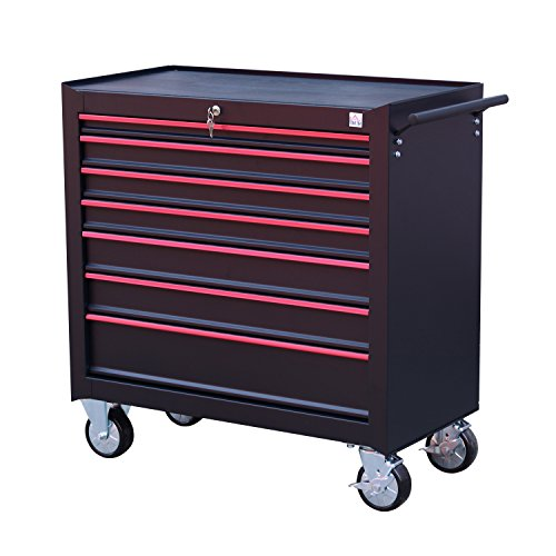 HomCom Rolling Steel 7 Drawer Tool Chest Cart w/ Handle