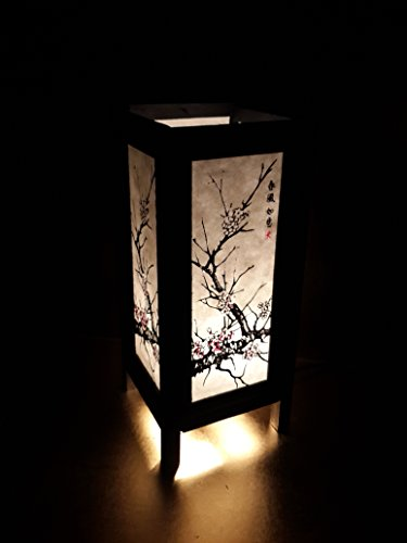 ese Sakura Cherry Blossom Tree Branch Art Bedside Table Lamp 11