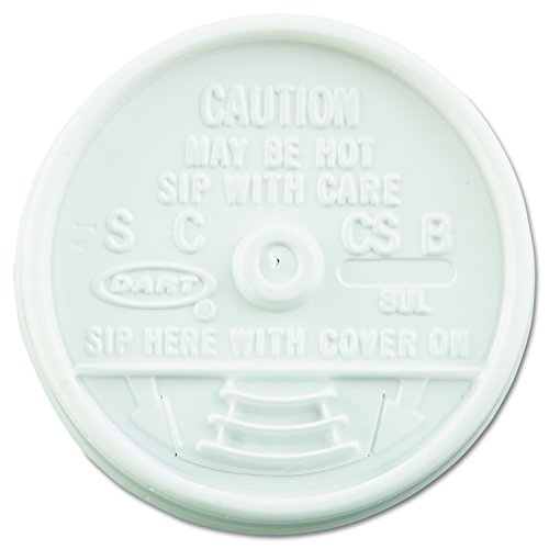 Dart 8UL White Sip Thru Lid - 8 Series (Case of 1000) -