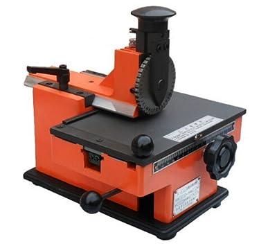 T-King(TM) Semi-automatic Nameplate Metal Label Stamping Printer Marking Machine Sheet Embosser 4mm