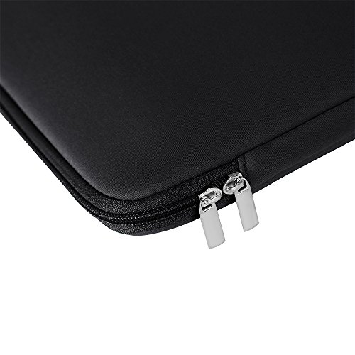 RAINYEAR 13-13.3 Inch Laptop Sleeve Fluffy Lining Case Pocket Bag with Small Pouch,for MacBook Air/Pro/Retina/Touchbar,Notebook Chromebook Dell HP ThinkPad Lenovo Asus Acer(Black,Upgraded Version) by RAINYEAR make life easier (Image #7)