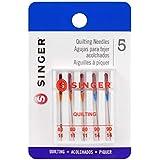 SINGER 44729 Quilting Machine Needles, Sizes 80/11 & 90/14, Multicolor