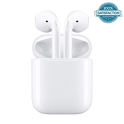 Wireless Bluetooth Earbuds Headphones Stereo In-Ear Earpieces Earphones Hands Free Noise Cancelling for Apple airpods iPhone X 8 8plus 7 7plus 6S Samsung Galaxy S7 S8 IOS Android Smart Phones (Oem Mono Earbud)