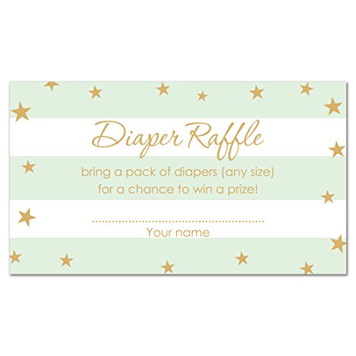 48 Twinkle Twinkle Little Star Diaper Raffles (Mint)