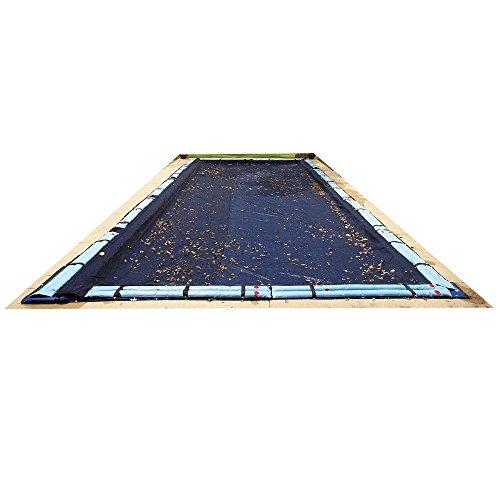 16 ft. x 36 ft. Rectangular Black Leaf Net In-Ground Pool Cover