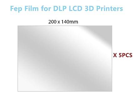 TMDN 5PCS fep film/folie para SLA LCD impresoras 3D, 200 x140 mm ...