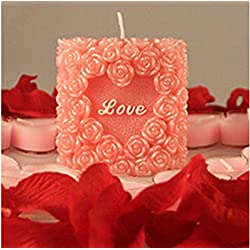 Great Mold Lovely Wedding Art Candle Mold 3D Rose