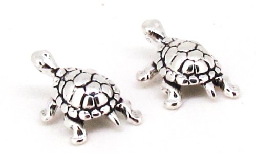- STERLING SILVER MINI SWIMMING TURTLE EARRINGS ON POSTS