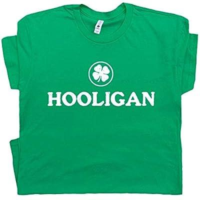 Irish Hooligan T Shirt Ireland Shamrock Dublin Pub Rugby Soccer Saying St Patricks Day Graphic Design Tee