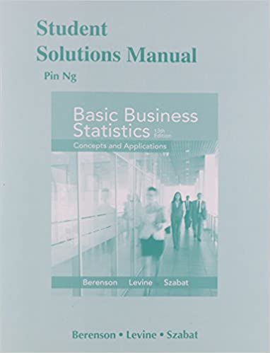 Amazon student solutions manual for basic business statistics student solutions manual for basic business statistics 13th edition fandeluxe Gallery
