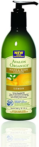 Avalon Organics Hand & Body Lotion, Lemon 12 oz (Pack of 10)