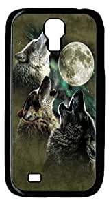 Cool Painting Three Wolf Moon in Olive Polycarbonate Hard Case Cover for Samsung Galaxy S4/I9500