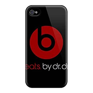 Shockproof Hard Phone Covers For Apple Iphone 4/4s With Customized Attractive Beats By Dr Dre Skin ZabrinaMcVeigh