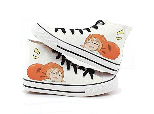 Himouto! Umaru-chan Doma Umaru Scarpe Cosplay Scarpe Sneakers Nero / Bianco 1 Bianco 3