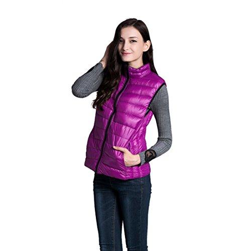 Women's Lightweight Wear Down Sleeveless Parka Double Coat Sided JTENGYAO Jacket Black Winter Vest BOdaBqx