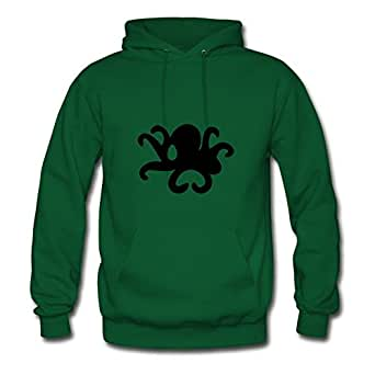 X-large Lovely Women Sweatshirts ۞»♥ټoctopus Making A Heart With Its Tentaclesټ♥«۞ By Erinwood Green