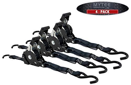 Mytee Products 4 Auto Retract NO-RATCHETING Ratchet Straps | 1