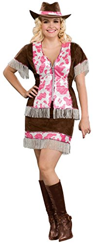 [Forum Novelties Women's Sassy Cowgirl Costume, Multi, Plus Size] (Women Cow Costumes)