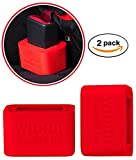 2-Pack Car Seat Belt Buckle Holder by Wididi Buckle Up - Soft Silicone - Easy Installation - Holds Seatbelt Receiver in Upright Position - Makes Buckling Easier for Kids, Adults & The Elderly - Red