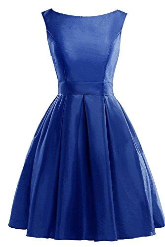Royal Scoop Bridesmaid Bess A Mini Dress Satin Line Homecoming Bridal Women's Blue 6qtqYv