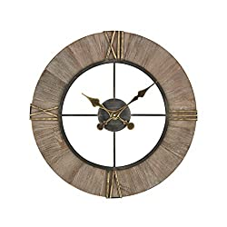 AR Lighting Old Boy Wall Clock in Gray and Gold