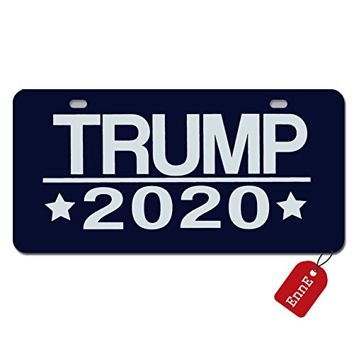 EnnE Personalized Metal License Plate Cover Trump 2020 Keeping America Great For Car 2 Holes Car Tag 11.8 inch X 6.1 inch