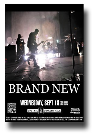 Brand New Poster Promo for a concert on Your Favorite Weapon Tour Jesse Lacey