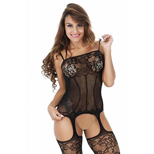Ninasill Women Lingerie, ღ Hot Sale ღ ! Exclusive Lingerie Nightwear Underwear Babydoll Sleepwear (Black)