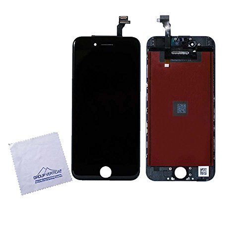 Touch Screen Digitizer Display + LCD Assembly Replacement for Apple iPhone 6 4.7 Black A1549 A1586 A1589 by Group Vertical