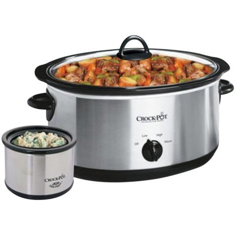 CROCK-POT 8 QT. STAINLESS STEEL SLOW COOKER W/ LITTLE DIPPER