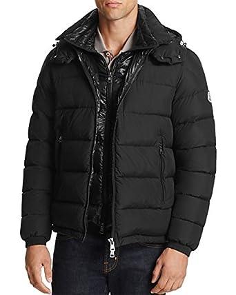 moncler mens black down jacket
