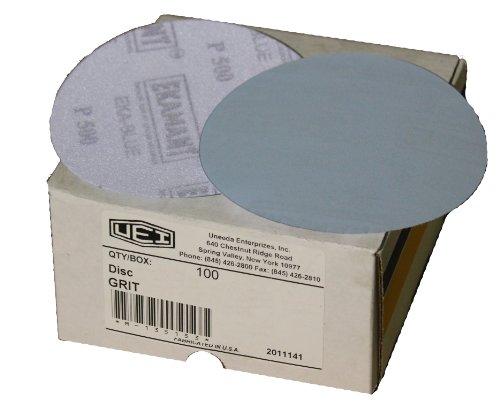 Uneeda Enterprizes, Inc M-148249 M-148249 5-Inch x No Hole NH No 600 Grit Ekablue Aluminum Oxide Paper Uneevel Hook and Loop Sanding Discs