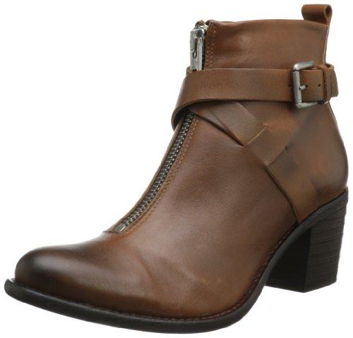 Diesel Damen Boots Stiefeletten Braun Chelsea Show Echtleder Braun