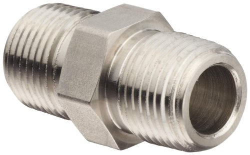 Brennan 5404-08-08-SS Stainless Steel Pipe Fitting, Hex Nipple, 1/2
