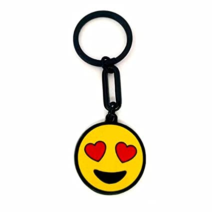 Amazon.com : Keychain Smiling Face With Heart-Eyes Emoji ...