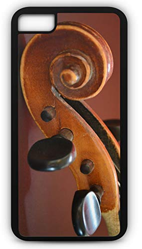 iPhone 8 Plus 8+ Case Violin Instrument Bow Pitch Music Close Up in Tune Customizable by TYD Designs in Black Plastic Black Rubber Tough Case
