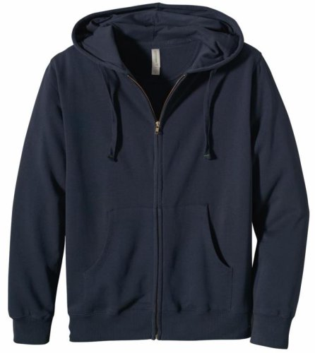 econscious Men's 80% Organic Cotton 20% Polyester Fleece Zip Hoody (Pacific, Large)