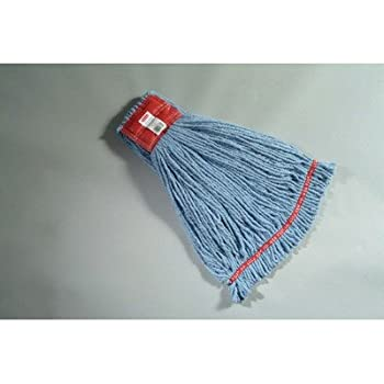 RCPA253BLU - Web Foot Wet Mop Heads, Shrinkless, Cotton/synthetic, Blue, Large