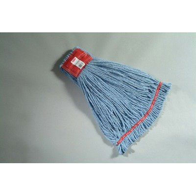- Rubbermaid Commercial Web Foot Wet Mop Heads, Shrinkless, Cotton/Synthetic, Blue, Large