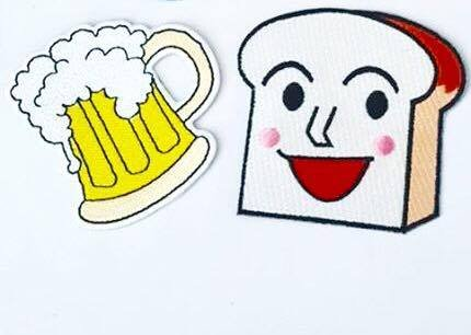Bread Smile Face And Beer fantasy Patch Embroidered Iron On Patches … Fantasy Bread