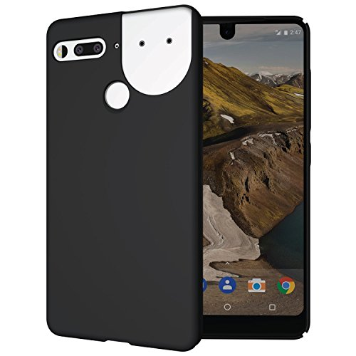 Essential Phone Ph 1 Case  Tudia Low Profile Design  Lula  Polycarbonate Snap On Back Protective Case Cover For Essential Phone Ph 1  Compatible With 360 Camera   Matte Black