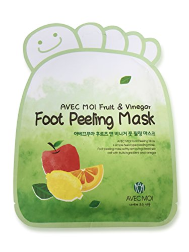 Foot Peeling Mask for Baby Soft Feet - Gentle Peeling Foot Exfoliator Dead Skin Remover - Natural Fruit Extracts and Vinegar - Made in Korea by Sano Naturals