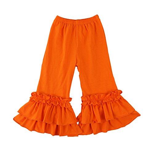 - Wennikids Infant/Toddler Girls Stretchy Flare Pants w/Ruffles 1-6T Large Orange
