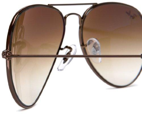 RB Brown Unisex NULL Sol NULL Ray Aviator de Ban 3025 Gafas E6HnwxqAFv