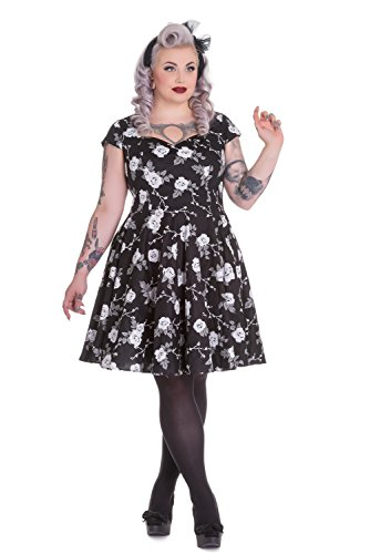 Hell-Bunny-Plus-Rockabilly-Death-Do-Us-Part-White-Rose-Black-Flare-Party-Dress