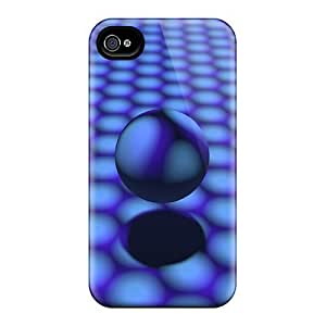 4/4s Scratch-proof Protection Case Cover For Iphone/ Hot Blue Circles Shadows A Sphere Phone Case